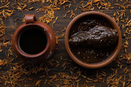 Coffee and mole sauce