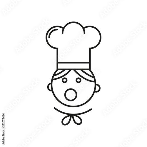 Chef hat symbol. Chef logo. Chef in a cooking hat vector outline icon 4800f05b45ad