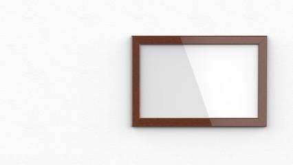 木製額縁 濃い色 横置き 左コピースペース