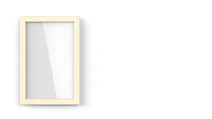 木製額縁 縦置き 右コピースペース