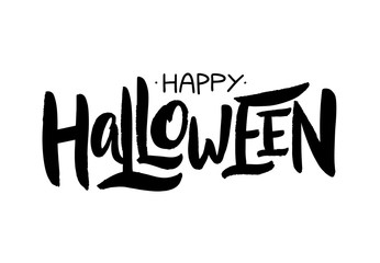 Happy Halloween. Hand drawn vector lettering. Modern brush callography.
