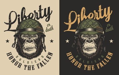 T-shirt print with gorilla concept