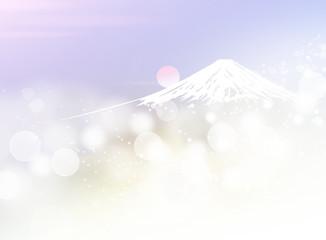 Wall Mural - 富士山と日の出