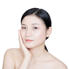 Asian girl isolated on white background