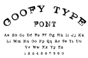 Goofy type alphabet font