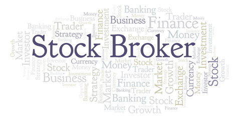 Stock Broker word cloud.