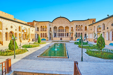 The splendor of Persian mansion, Kashan, Iran