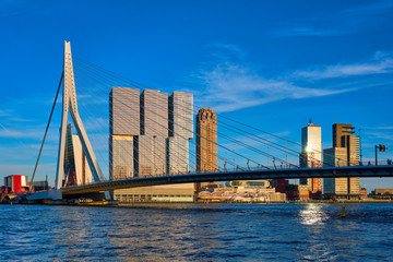 Photo sur Aluminium Rotterdam Rotterdam cityscape , Netherlands