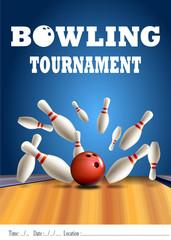 Bowling turnuvası broşürü