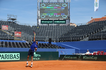 Davis Cup - Semi-Finals - Croatia v United States Training
