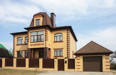 New two-storeyed brick house