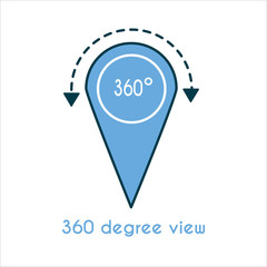 360 degree view flat icon