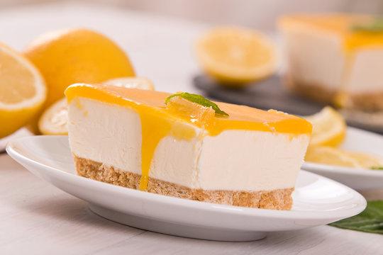 Lemon cheesecake.