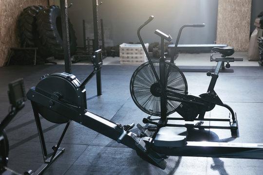 Sport Training Equipment At Crossfit Gym