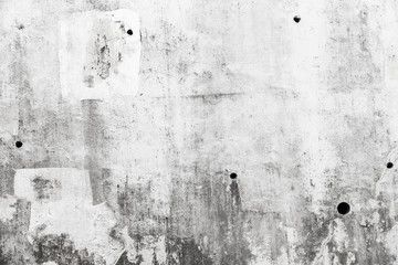 Fototapete - Grungy gray concrete wall with white paint
