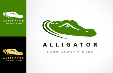 Crocodile logo vector. Alligator illustration.