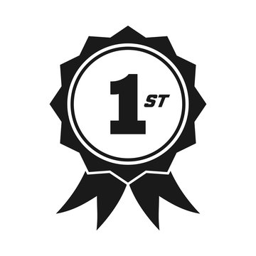 1st champion badge for success in competition