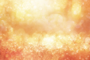 Abstract gold silver bokeh background