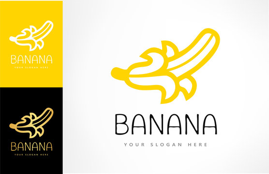 banana logo vector