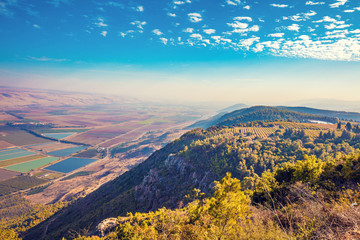 View from mount Menara, Upper Galilee, north Israel Wall mural