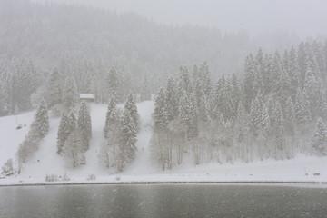 Winter landscape at Engelberg on Switzerland