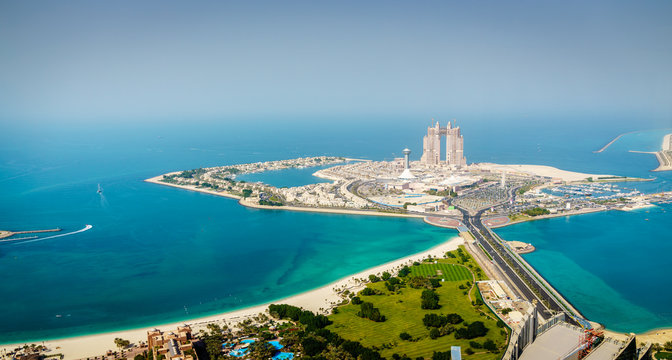 Marina Mall island in Abu Dhabi