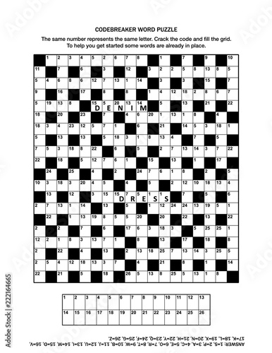 graphic about Codeword Puzzles Printable titled Puzzle web site with codebreaker (codeword, code cracker) term