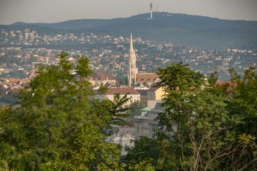 landscape of Budapest sights in 2018 September