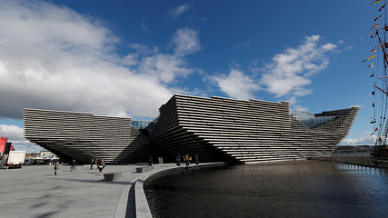 The V & A musuem is seen in Dundee, Scotland