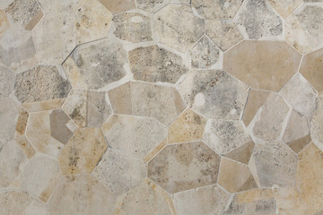 Stone block masonry. Background texture