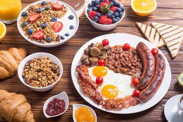 Healthy balanced english breakfast