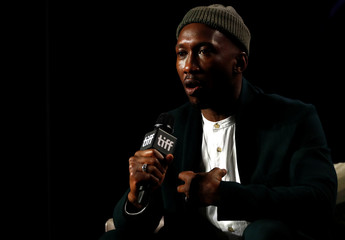 """Actor Mahershala Ali talks during a news conference to discuss the movie """"Green Book"""" at the Toronto International Film Festival in Toronto"""