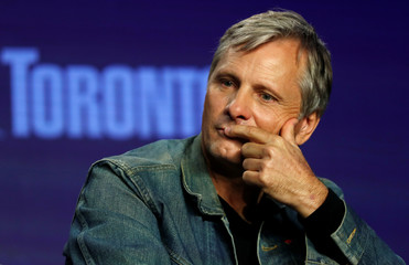 """Actor Viggo Mortensen attends a news conference to discuss the movie """"Green Book"""" at the Toronto International Film Festival in Toronto"""