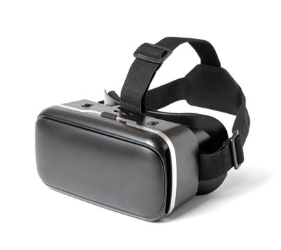 VR virtual reality glasses for mobile phone isolated on white