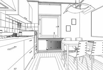 Einbauküche (Skizze)