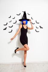 Girlish mystical party mood Full length, legs, body, size verti