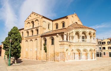The Church of saints Mary and Donato cityscape,Italy,Murano 10 September 2018, the city skyline,the Church of saints Maria and Donato,the design of the 12th century,foundations Marco Giustiniani