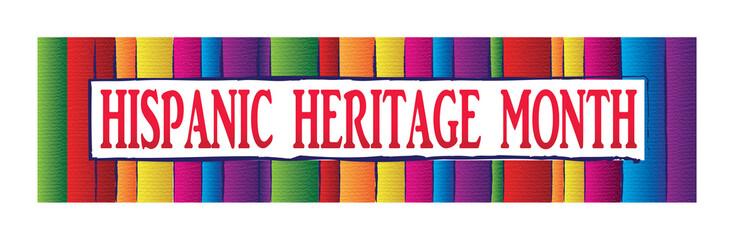 Hispanic Heritage Month Banner Wall mural