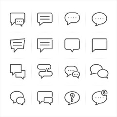 Speech Bubbles icons with White Background