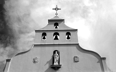 Famous cathedral church at historic St. Augustine, Florida