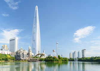 Beautiful Seoul skyline, South Korea. Wonderful view of downtown