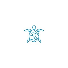 logo line turtle  abstract