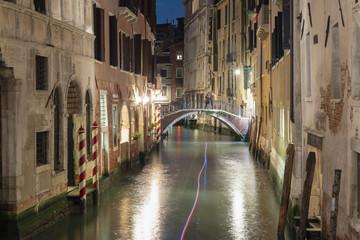 Aluminium Prints Venice water channel in Venice