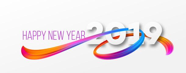 Happy New Year 2019 banner design
