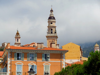 Wall Mural - Menton - Bell tower