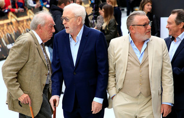 Actors Sir Michael Caine, Ray Winstone and Sir Michael Gambon arrive at the world premiere of King of Thieves in London