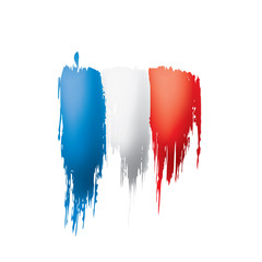 France flag, vector illustration on a white background