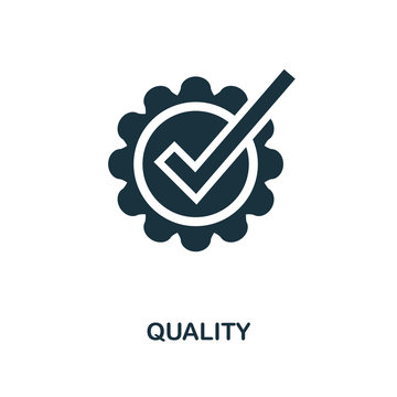 Quality icon. Monochrome style design from e-commerce icon collection. UI. Pixel perfect simple pictogram quality icon. Web design, apps, software, print usage.