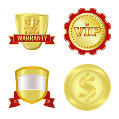 Isolated object of emblem and badge logo. Collection of emblem and sticker vector icon for stock.