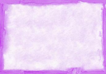 Rectangular regularly shaped violet watercolour background. Beau